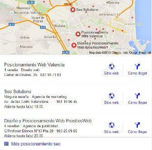 Posicionamiento local PrositiosWeb en Valencia