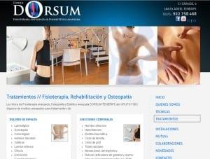 Web de la Clínica de Fisioterapia Dorsum en Tenerife