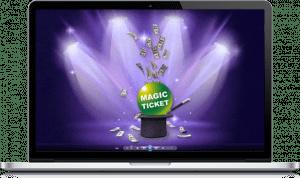 POp Up web Magic Ticket