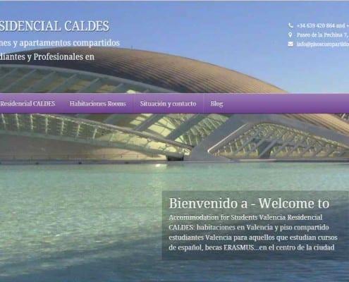posicionamiento web SEO Residencia para Estudiantes Nacionales y Erasmus Caldes