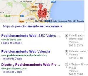 Consultor SEO Valencia PrositiosWeb: Posicionamiento Local en Google