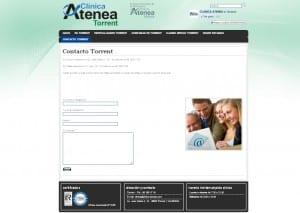 Atenea, página de contacto