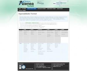 Clínica Atenea especialidades