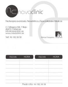 Tarjetas Clínica NAVACLINIC en Catarroja.
