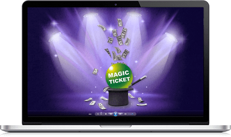 POp Up web Magic Ticket