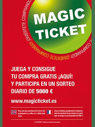 Diseño Flyer o folleto MagicTicket PorsitiosWeb Valencia