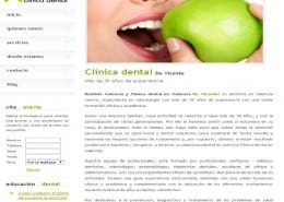 Web clinica dental en Valencia centro De Vicente