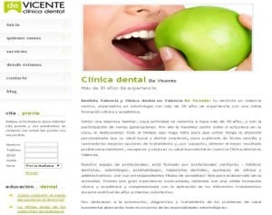 Web clinica dental en Valencia centro De Vicente
