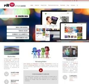 Agencia Diseño Web y Marketing Online en Valencia PrositiosWeb