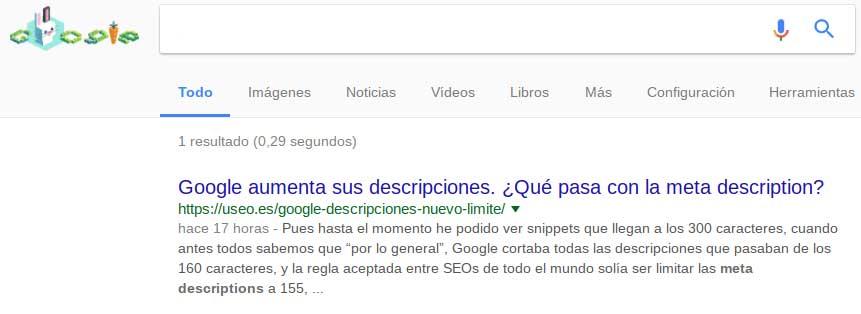 nuevo snippet de google