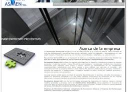 Web de la empresa Ascensores Asmen