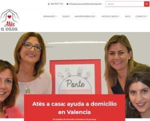 Diseño web de Atés a Casa
