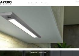 Web de la empresa Acero Iluminación