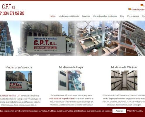 web de mudanzas Valencia CPT