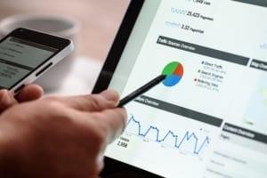 Gráfico de rendimiento SEO en Google