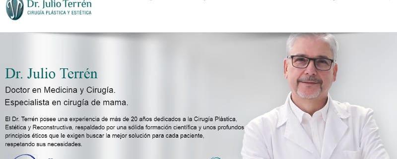 Home web clínica cirugia estetica Dr. Julio terrén