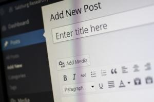 pantalla de añadir entradas de wordpress para crear contenido único y excepcional para tu SEO.